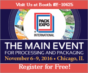 "Announcement attending the trade fair ""PACK EXPO International""in Chicago"
