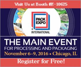 展示会情報:PACK EXPO International(アメリカ・シカゴ)に出展します。