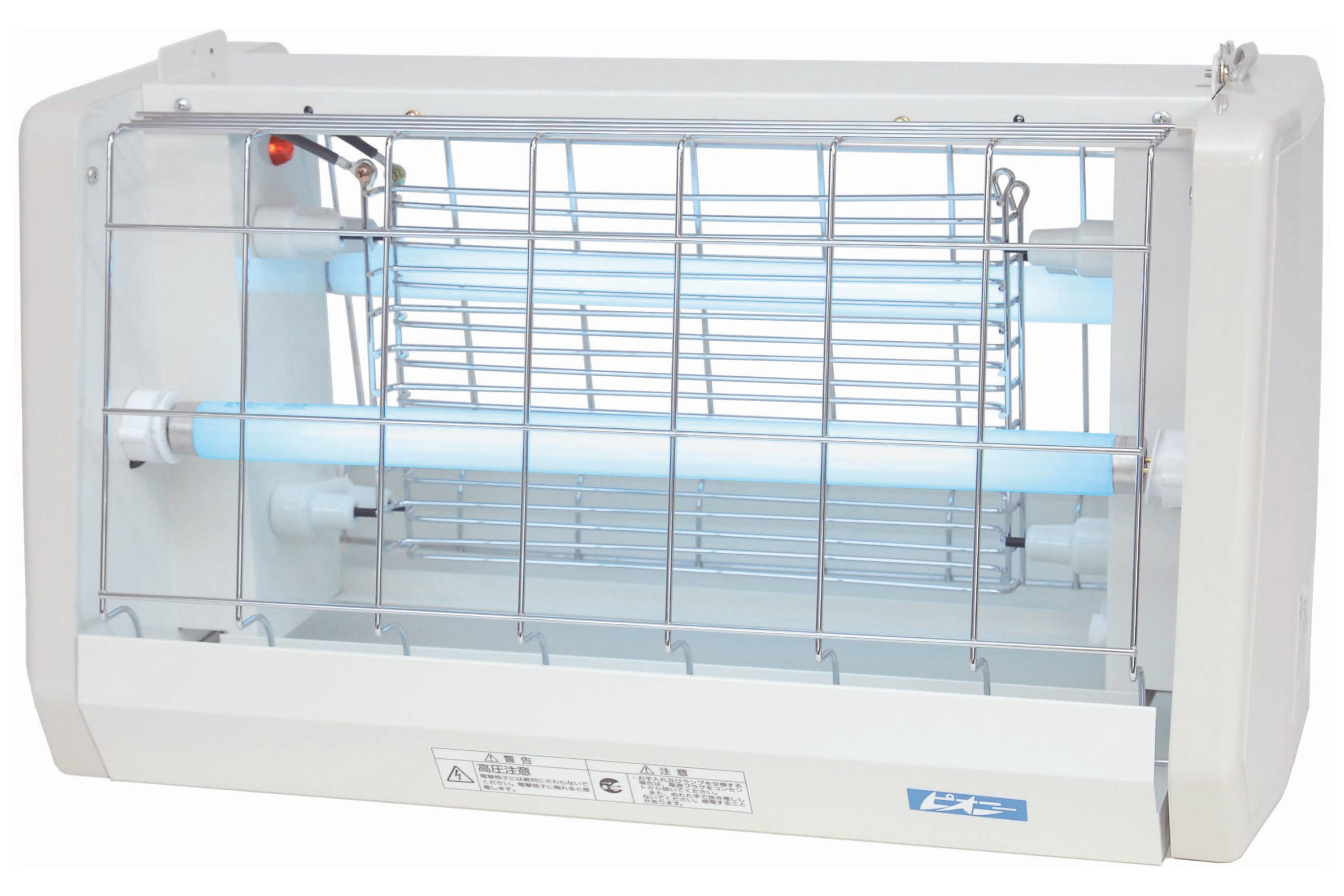 20Wの誘虫灯を2本使用し、虫の好む365nmの紫外線で虫を強力に誘引します。