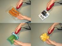 副資材(ホッチキス針、テープ、輪ゴムなど)を使用しないため異物混入対策、ランニングコスト低減に役立ちます。