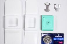 シリコン製カバー(2種類大・小)<br /> センサー・リチウム電池<br /> 電池取付用キット・取扱説明書