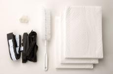 逆流防止膜、洗浄ブラシ、使い捨て吸水シート標準付属